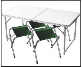 Стол складной + 4 стула в чехле Taiga