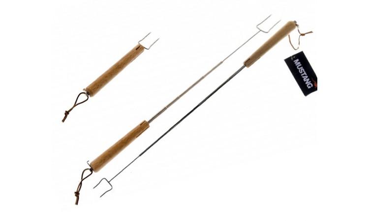 Телескопическая палка для жарки сосисок на костре