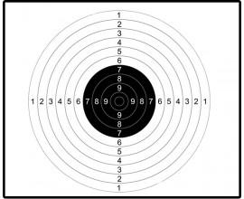 Мишень для пристрелки ружей спортивная