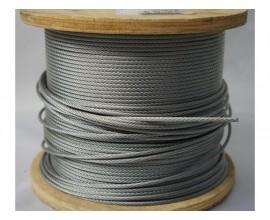 Трос нержавеющий  - 3,1 мм (1/8 High Grade 7х7)