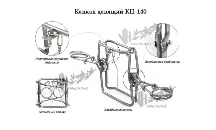 Капкан КП-140 на норку