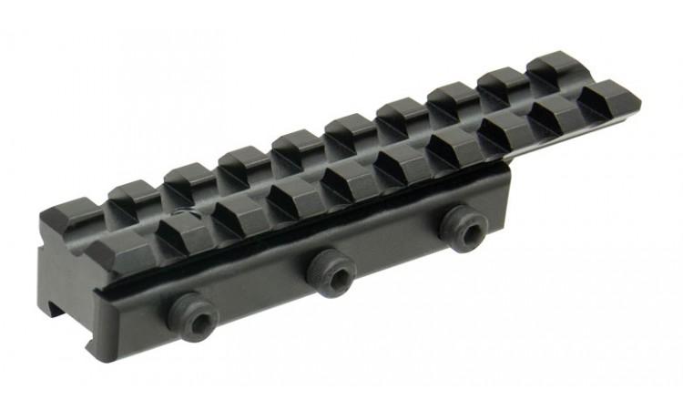 Адаптер Leapers UTG Weaver/Picatinny на призму 11-12 мм, 9 слотов, база 100мм., основание 75мм
