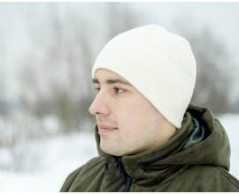 Шапка флисовая белая NordHunter