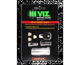 HiViz мушка для АК (сайга, тигр, вепрь), в комплекте 2 зелёных и 2 красных оптоволокна