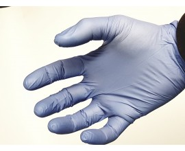 Перчатки смотровые одноразовые нитириловые Safe&Care