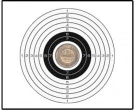 Мишень пристрелочная 5 копеек (140х140)